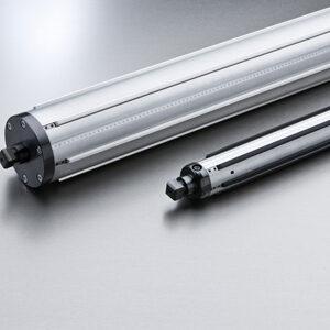 pneumatic strip shaft closeup